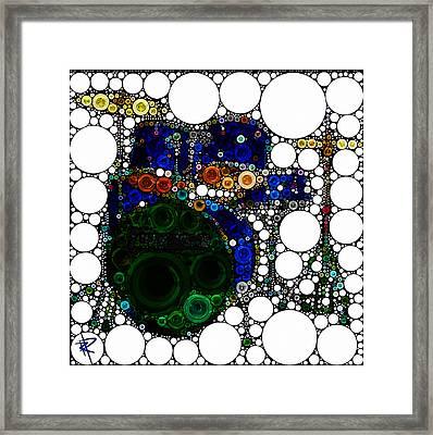 Backbeat Bubbles Framed Print by Russell Pierce