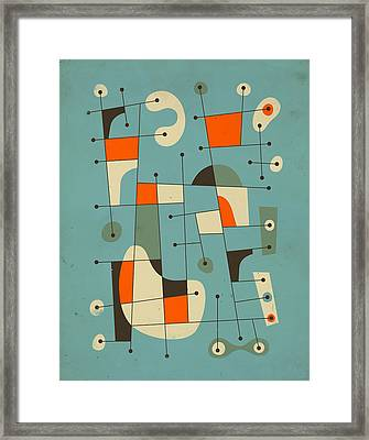 Background Music Framed Print by Jazzberry Blue
