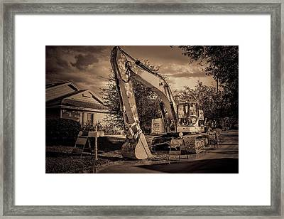 Backhoe-1 Framed Print by Rudy Umans