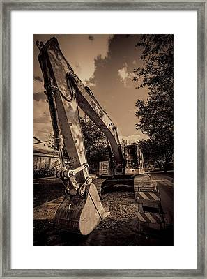 Backhoe-2 Framed Print by Rudy Umans