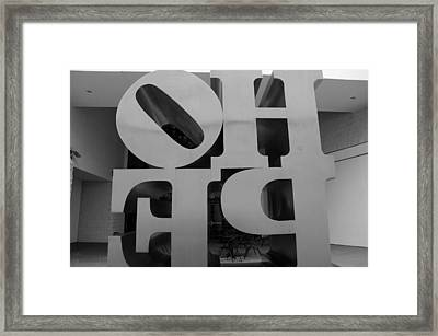 Backside Of Hope In Black And White Framed Print by Rob Hans