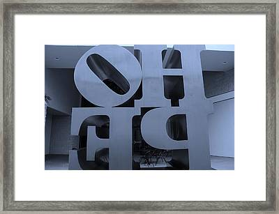 Backside Of Hope In Cyan Framed Print by Rob Hans