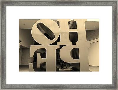 Backside Of Hope In Sepia Framed Print by Rob Hans