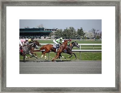 Backstretch Framed Print by Paul Harris