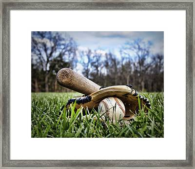 Backyard Baseball Memories Framed Print by Cricket Hackmann