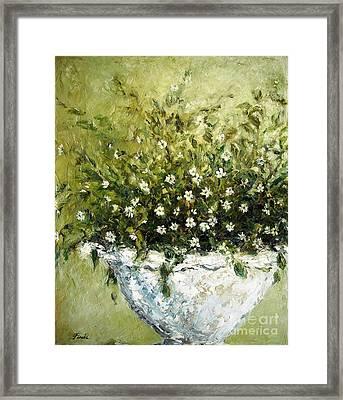 Bacopa Urn Framed Print by Doria Fochi