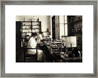Bacteriology Laboratory Framed Print by American Philosophical Society