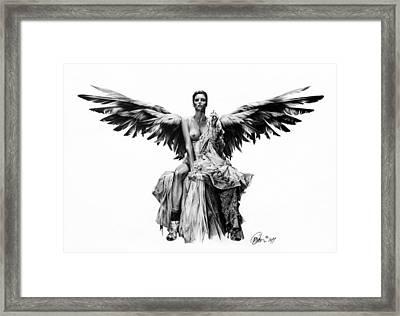 Bad Angel Framed Print by Mario Pichler