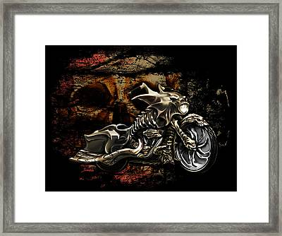Bad Ass Bagger Framed Print by Michael Spano