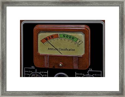 Bad Good Attitude Classification Meter Framed Print by Phil Cardamone