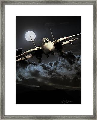 Bad Moon Rising Framed Print by Peter Chilelli