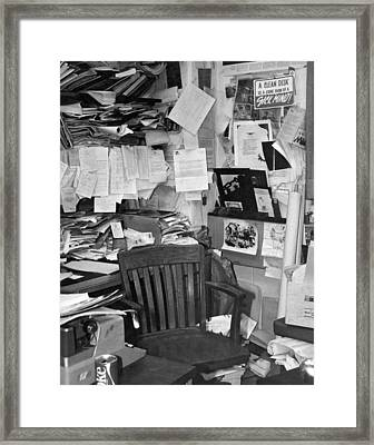 Bad Office Space Framed Print by Underwood Archives