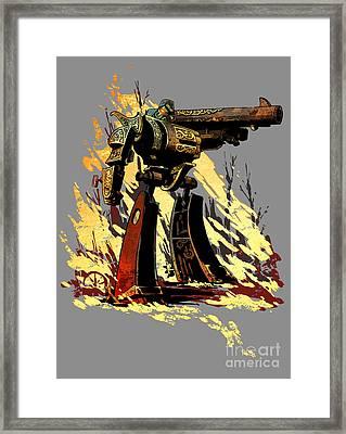 Bad Robot Framed Print by Brian Kesinger