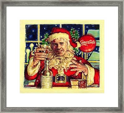 Bad Santa Framed Print by Jeff Cornish