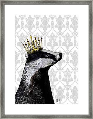 Badger King Framed Print by Kelly McLaughlan