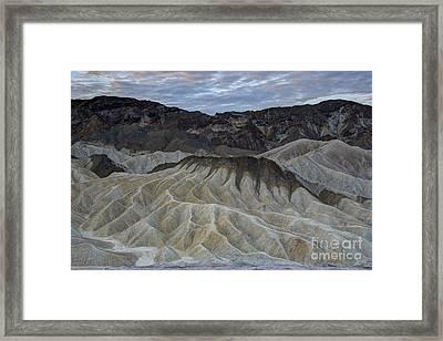 Badlands At Sunrise. Death Valley Framed Print by Juli Scalzi