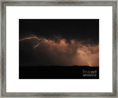 Badlands Lightning Framed Print by Chris  Brewington Photography LLC