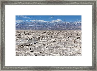 Badwater Basin - Death Valley Framed Print by Sandra Bronstein