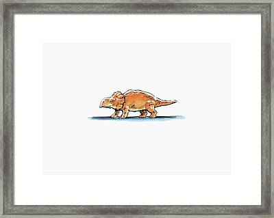 Bagaceratops Dinosaur Framed Print by Deagostini/uig