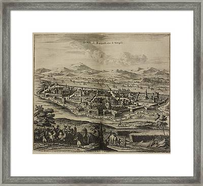 Baghdad And Surrounding Landscape Framed Print by British Library