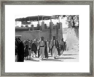 Baghdad Steet Scene Framed Print by Underwood Archives