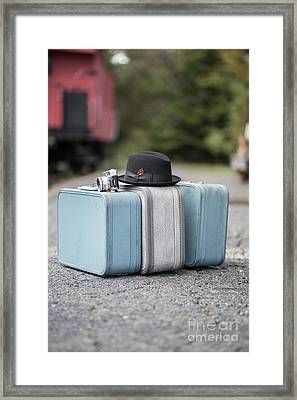 Bags All Packed Ready To Go Framed Print by Edward Fielding
