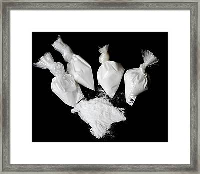 Bags Of Cocaine Framed Print by Public Health England