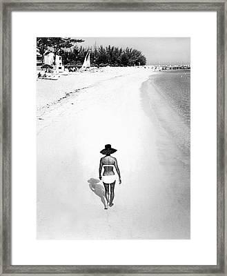 Bahama Island Beach Framed Print by Underwood Archives