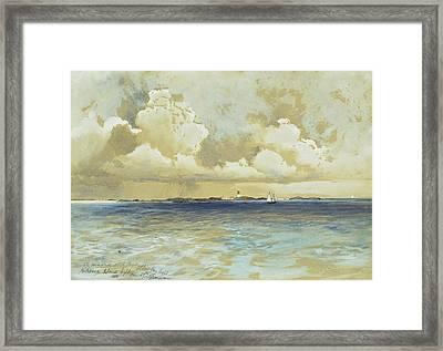 Bahama Island Light Framed Print by Thomas Moran