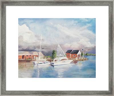 Bahamas Harbor Framed Print by Barbara Anna Knauf