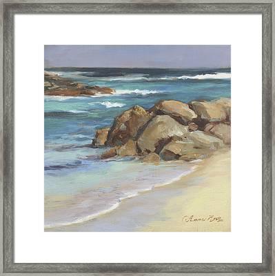 Bahamian Shoreline Framed Print by Anna Rose Bain