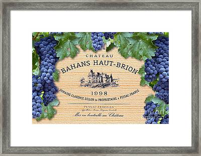 Bahans Haut Brion Framed Print by Jon Neidert