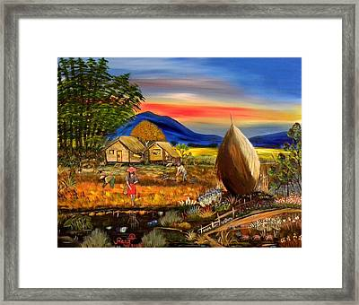 Bahay Kubo Philippines Framed Print by Anna Baker
