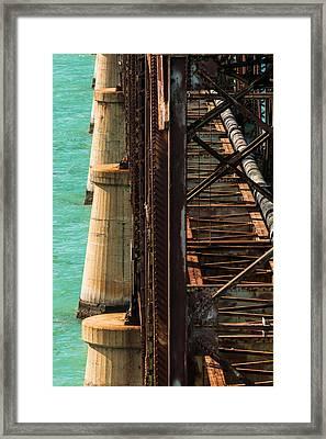 Bahia Honda Steel And Concrete Framed Print by Ed Gleichman
