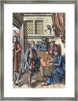Bailliage, Or Tribunal Of The Kings Framed Print by Dutch School