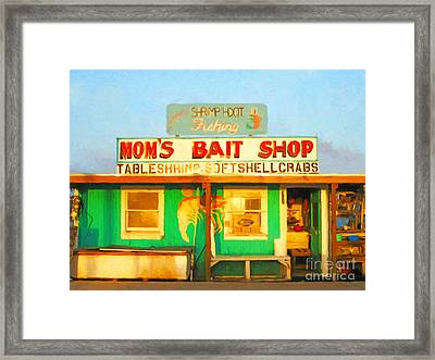 Bait Shop 20130309-1 Framed Print by Wingsdomain Art and Photography