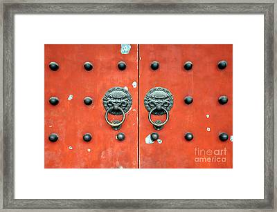 Baiyun Temple Framed Print by Delphimages Photo Creations