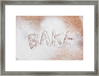 Bake Text Framed Print by Tom Gowanlock
