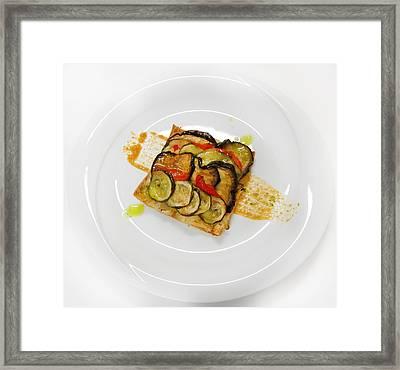 Baked Vegetables Framed Print by Gina Dsgn