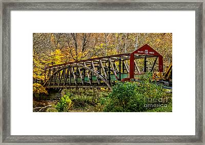 Baker's Camp Covered Bridge Framed Print by Kathryn Smith
