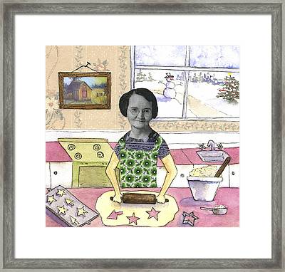 Baking Sugar Cookies Framed Print by Kerrie  Hubbard