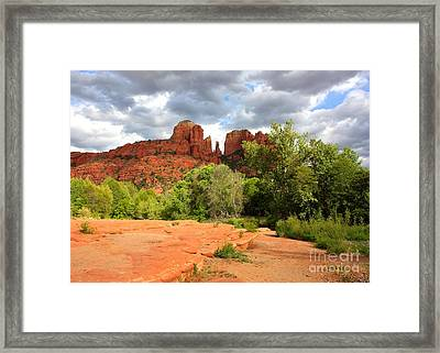 Balance At Cathedral Rock Framed Print by Carol Groenen