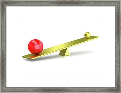 Balance Framed Print by Wladimir Bulgar