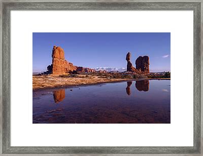 Balanced Reflection Framed Print by Chad Dutson