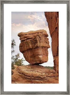 Balanced Rock Framed Print by Mike McGlothlen