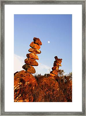 Balanced Rock Piles Framed Print by Christine Till