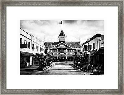 Balboa California Main Street Black And White Picture Framed Print by Paul Velgos