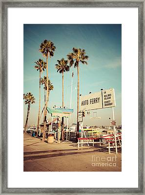 Balboa Island Ferry Nostalgic Vintage Picture Framed Print by Paul Velgos