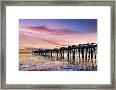 Balboa Pier Sunset Framed Print by Kelley King