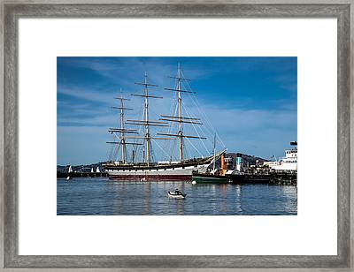 Rowing Past Balclutha And Steamship Eppleton Hall Framed Print by David Smith